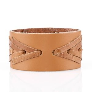 Cowboy Country - Brown Leather Bracelet